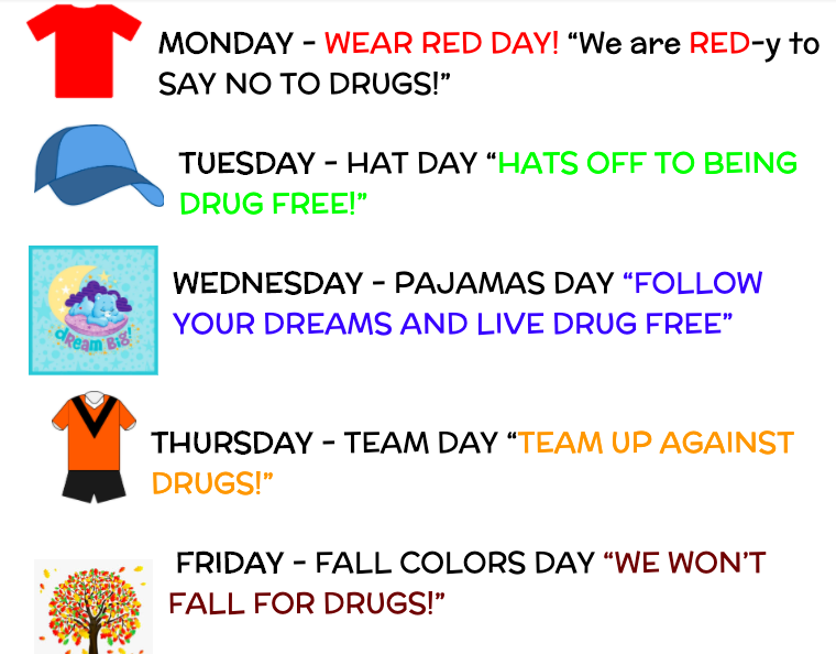list of red ribbon days